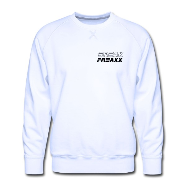 "SWEATER - ""SNEAKFREAXX"" WHITE & BLACK"
