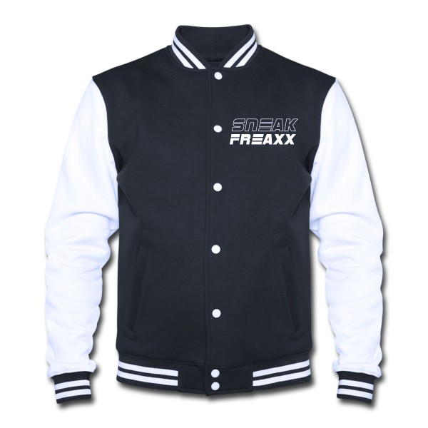 "COLLEGE JACKE - ""SNEAKFREAXX"" BLACK & WHITE"