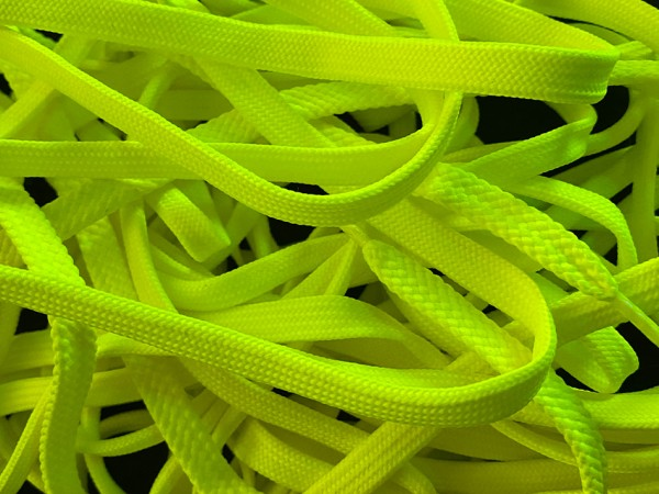"""NEON LACES 120 mm """"YELLOW"""""""